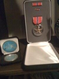 bronze medal in case