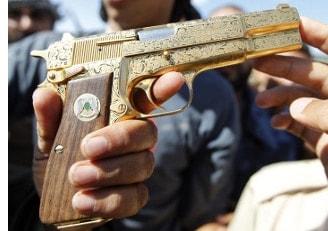 Browning Hi Power 9mm .40 S&W Golden Gun Gaddafi