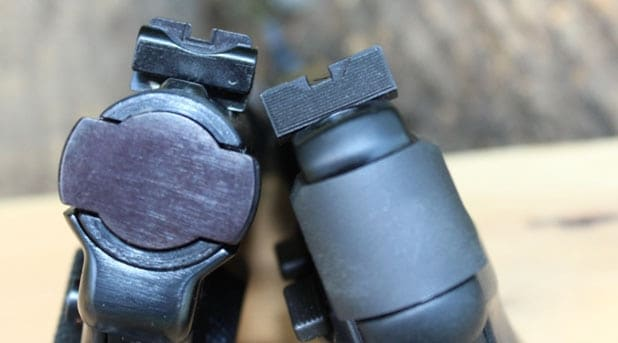 The rear sights