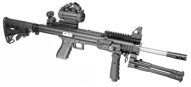 fully converted rifle on handgun