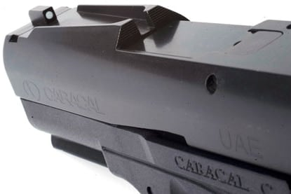 closeup of the fast sights