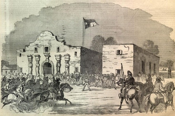 painting of the alamo battle
