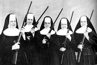 nuns holding rifles