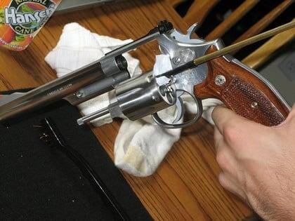 Cleaning guns.