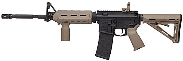 colt m4 carbine on white background