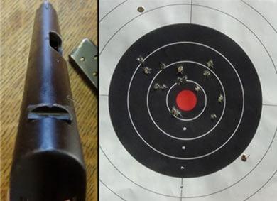 Colt 1903 Pocket Hammerless sights plus target.