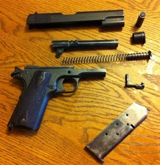Colt 1911 field stripped