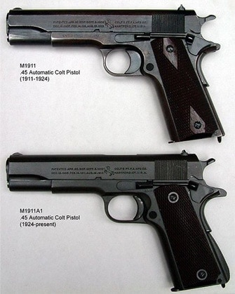 A M1911 side to side with a M1911A1