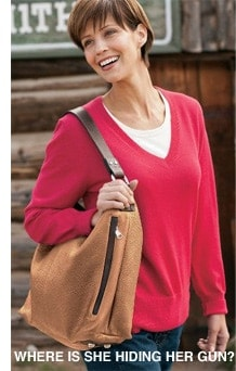 woman with large purse