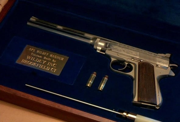 "The .475 Wildey handgun in the film ""Death Wish 3""."