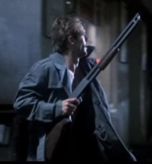 "Reese in ""Terminator"" holds Ithaca 37."
