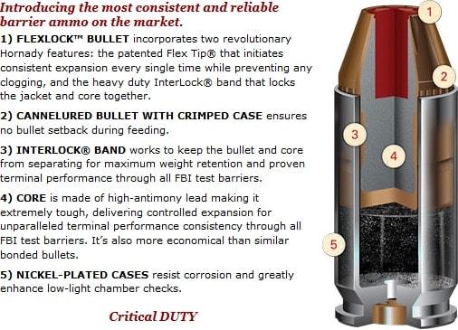 hornady ammo spec sheet