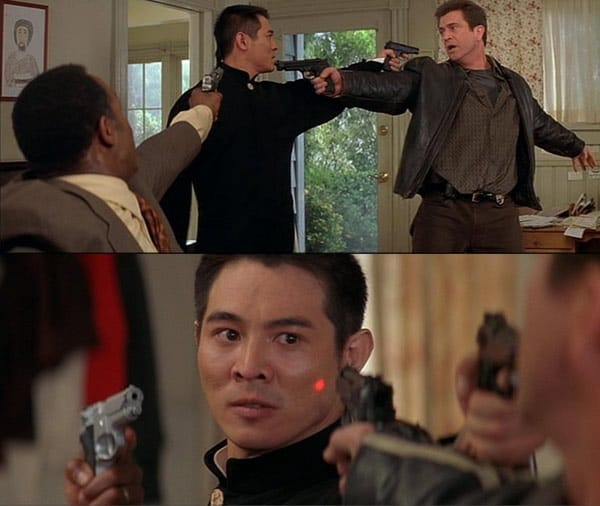 Mel Gibson Lethal Weapon 4 Crimson Trace Lasergrips Laserguard