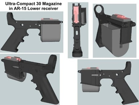 Ultra-Compact 30 Magazine in AR-15 Lower Receiver