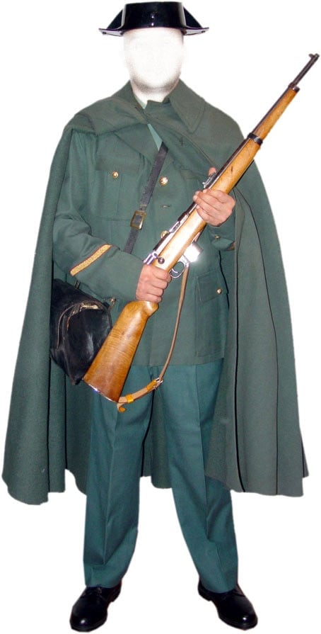 Guardia Civil soldier with Destroyer carbine.