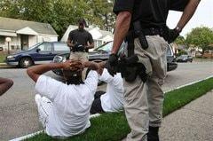police detaining citizens