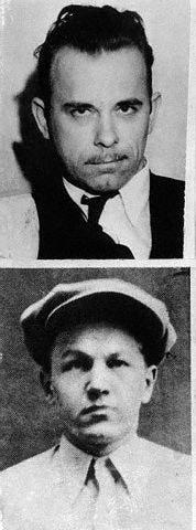 """John Dillinger and George """"Babyface"""" Nelson."""