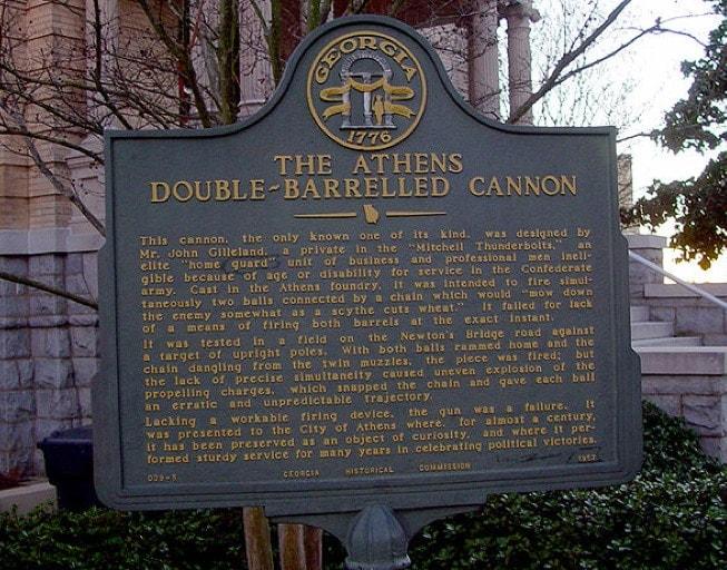 double-barrelled cannon memorial