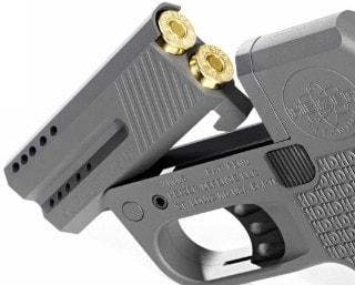 Heizer Defense DoubleTap ejecting cartridges