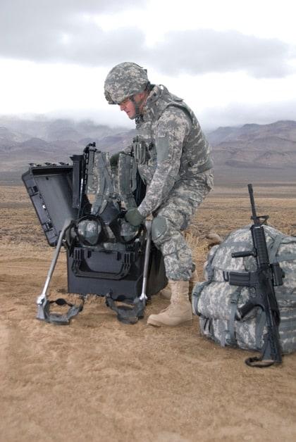 marine packing cart on mountain