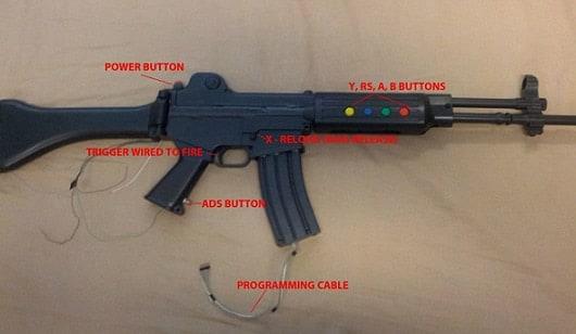Video Game Controller shaped like ar gun