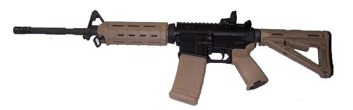 brown machine gun