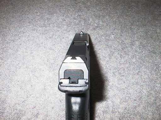 rear view of steyr 9 handgun