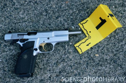 Stolen gun.