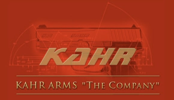 kahr arms company red logo banner