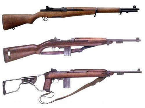 3 garand rifles