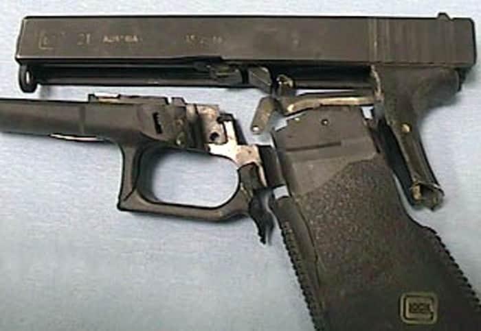 deconstructed handgun