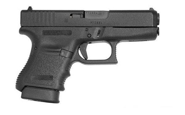 The Glock 36 slimline handgun chambered in .45 ACP