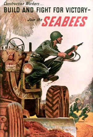 Seabees recruitment poster.