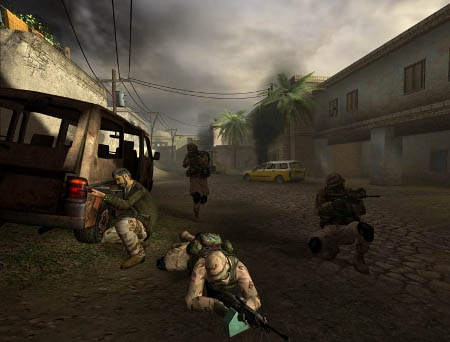 soldiers in video game