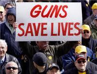 guns save lives sign