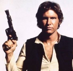 photo of harrison ford as han solo from star wars