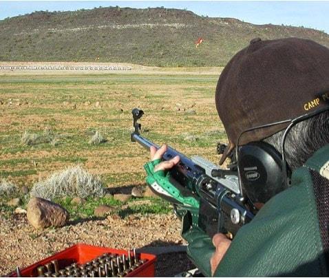 shooting outside at the range