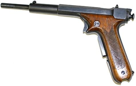 side view of a Hino-Komuro blowforward pistol
