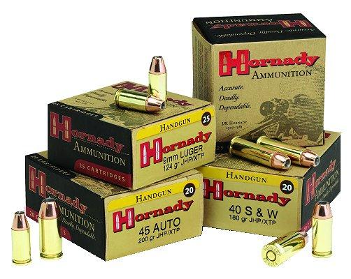 Hornady XTP hollowpoints.