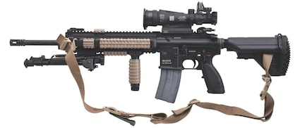 hk rifle with scope