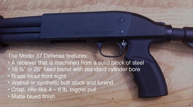 Ithaca Model 37 Defense features.