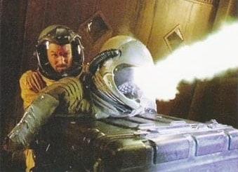 Janye Shoots Gun in Space