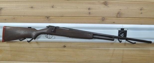 The JC Higgins Model 10 bolt-action shotgun.