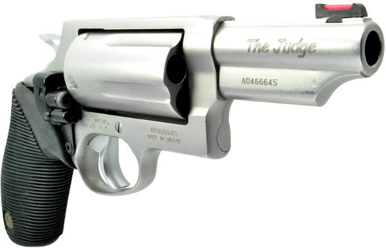 new taurus judge revolver on white background