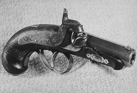 This is the gun John Wilkes Booth used to kill President Lincoln.