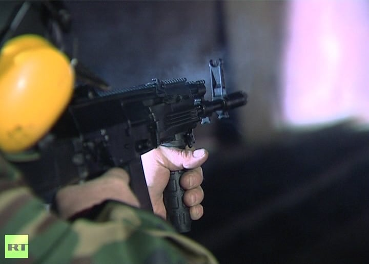 firing ak at range