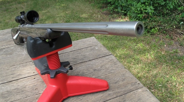 The Kimber Pro Varmint rifle.