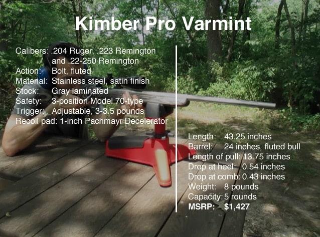 Kimber Pro Varmint rifle specs.