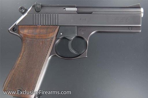 Korth semi-auto 9mm handgun.