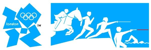 modern olympic fencing group logo